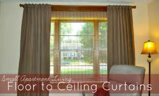 Can You Hang Curtains From The Ceiling Small Apartment Living Floor To Ceiling Curtains To The