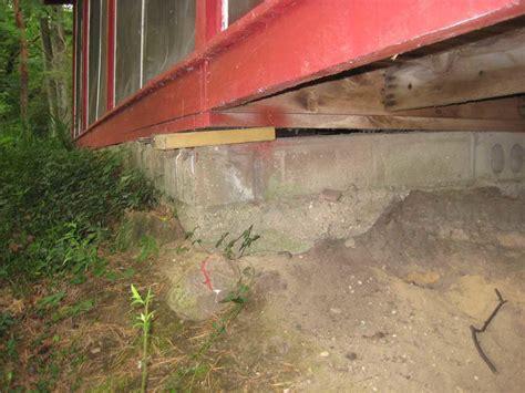 foundation sinking in one corner sinking foundation in newaygo mi
