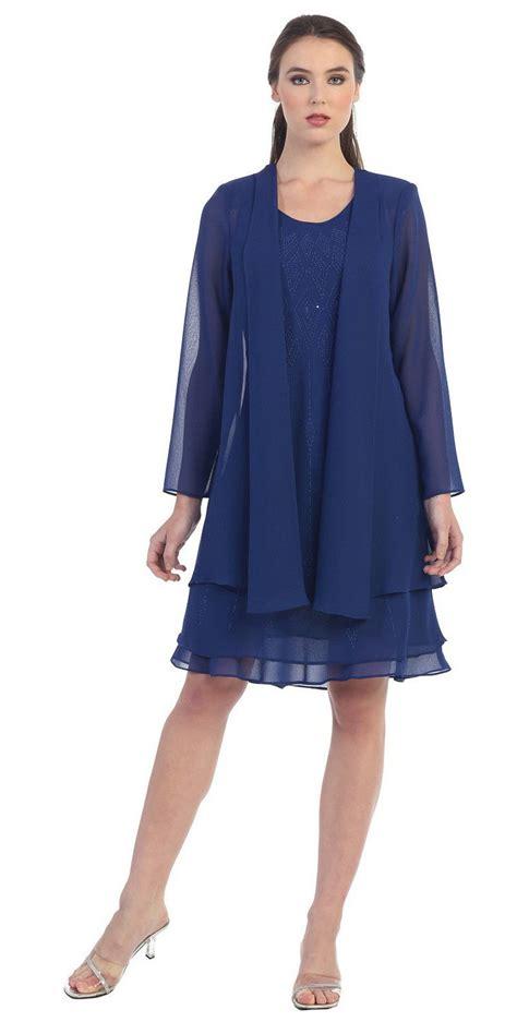 Dress With Cardigan 3 clearance flowy chiffon white dress knee length sleeve cardigan discountdressshop