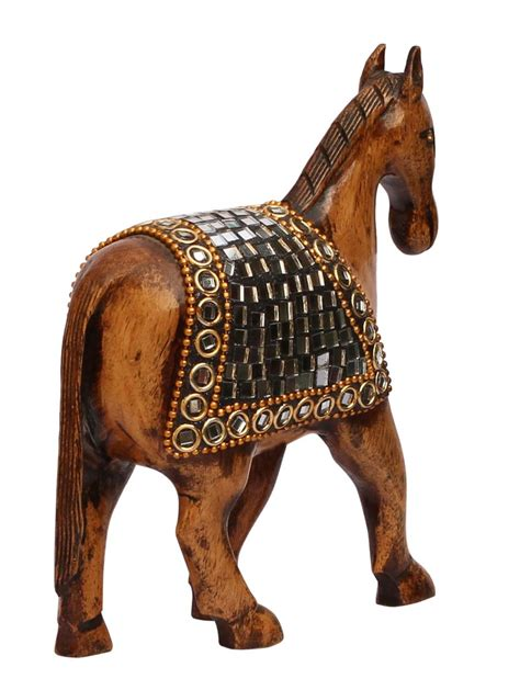home decor statues sculptures wholesale horse statue figurine bulk buy 4 wooden horse