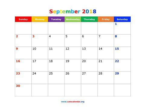 printable calendar 2018 fun cute september 2018 calendar printable journalingsage com