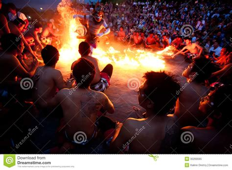 bali december  traditional balinese kecak  fire