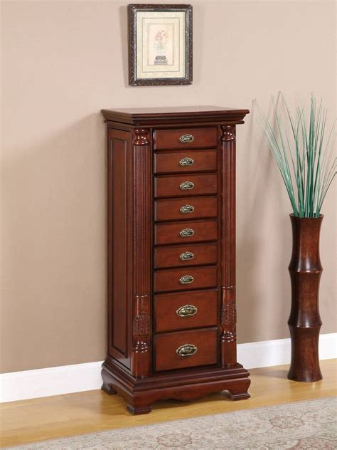 cherry jewelry armoire powell heirloom cherry jewelry armoire 998 319