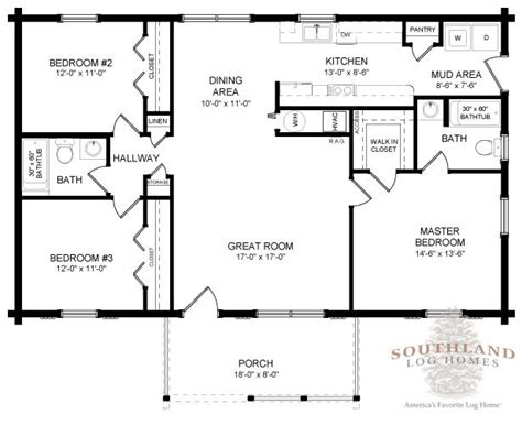 southland log homes floor plans lafayette log home plan by southland log homes