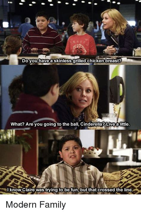Modern Family Memes - 25 best memes about crossing the line crossing the line