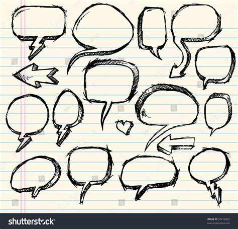 doodle speech free vector notebook doodle sketch speech vector illustration