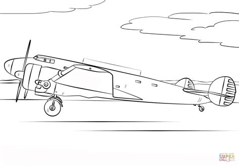 amelia earhart airplane coloring page free printable