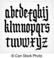 alfabeto gotico lettere alfabeto gotico bello lettere alfabeto isolato