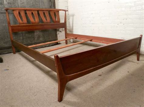 mid century modern beds sculpted mid century modern bed frame by kent coffey at