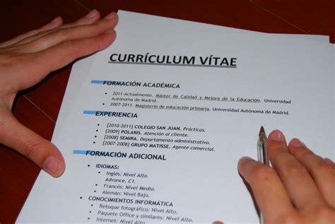 Plantilla De Curriculum Vitae Simple Para Trabajo plantillas curriculum gratis