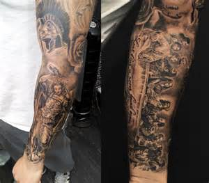 last supper tattoo arm cool tattoos designs