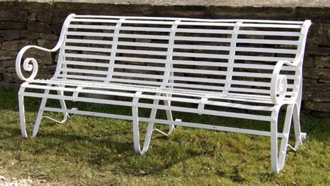 antique wrought iron garden bench antique wrought iron garden bench holloways garden