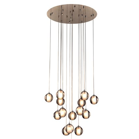Contemporary Lighting Pendants Plc 92935pc Nuetron Modern Polished Chrome Multi Pendant Lighting Plc 92935pc