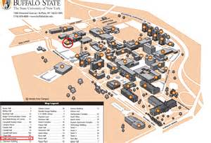 Buff State Map by Child Care Center Buffalo State