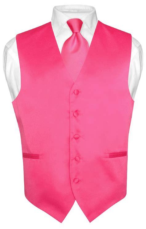 Pink Vest pink formal vest necktie bow tie handkerchief l ebay