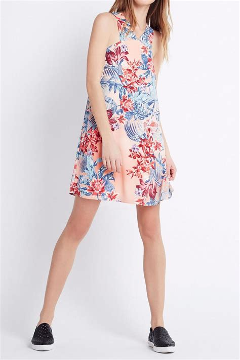 Nicely Dress X S M L bcbgeneration tropical pink dress from by