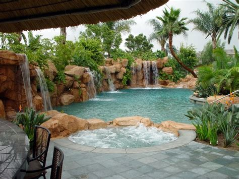 tropical backyards with a pool home designer rasmussen design incorporated tropical pool orange