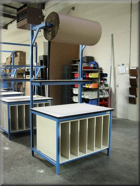 packing table with shelves rdm workbench f 103p cab tech table w shelf