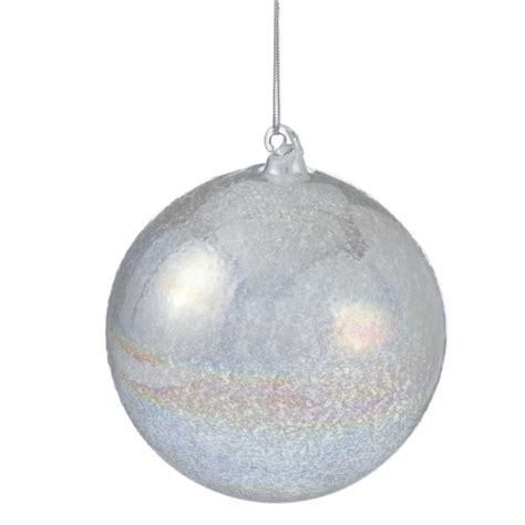 oversized opal glass ball christmas ornament