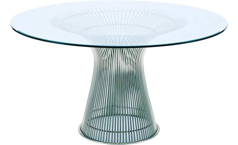 platner nickel dining table hivemodern