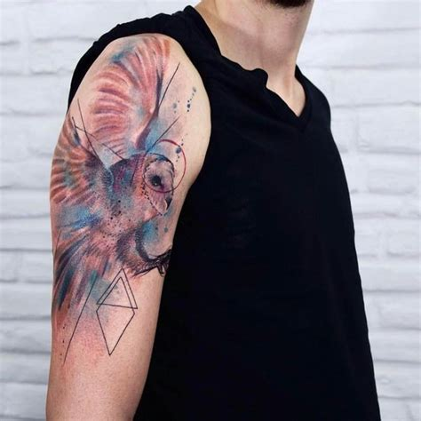 quarter sleeve owl tattoo quarter sleeve tattoo ideas for men and women