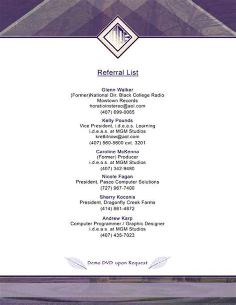 referrals on resume