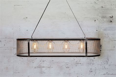 Custom Light Fixture Crafted Custom Basket Light Fixture Stainless Mesh By Mill Forge Custommade
