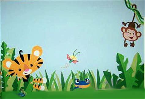 Painted Wall Murals For Kids rainforest nursery design