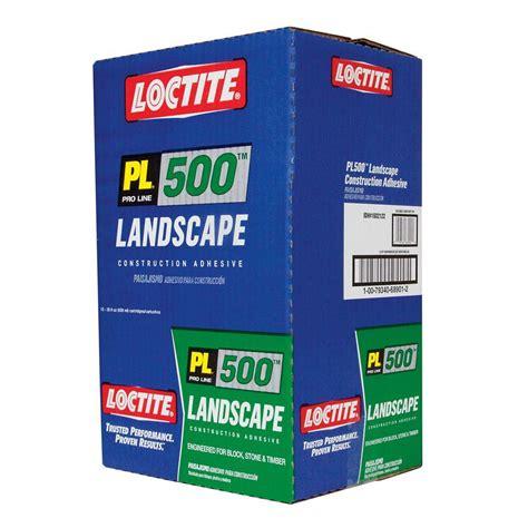 loctite pl 500 10 fl oz voc landscape block adhesive 12