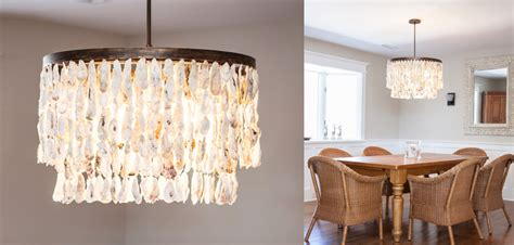shell lighting fixtures oyster shell chandelier layered r mended metals llc