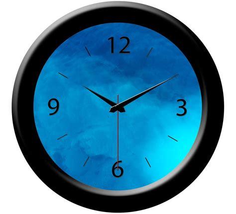 buy blue designer wall clock home decor items