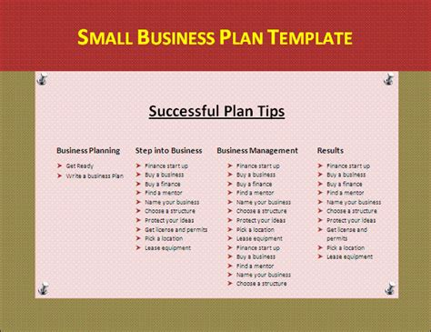 preparing a business plan template let s build your small business plan template
