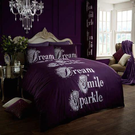 sparkle bedding wholesale bulk dream smile sparkle aubergine duvet cover