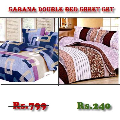 Rs For Beds by Sabana Bed Sheet Set Worth Rs 799 For Rs 240