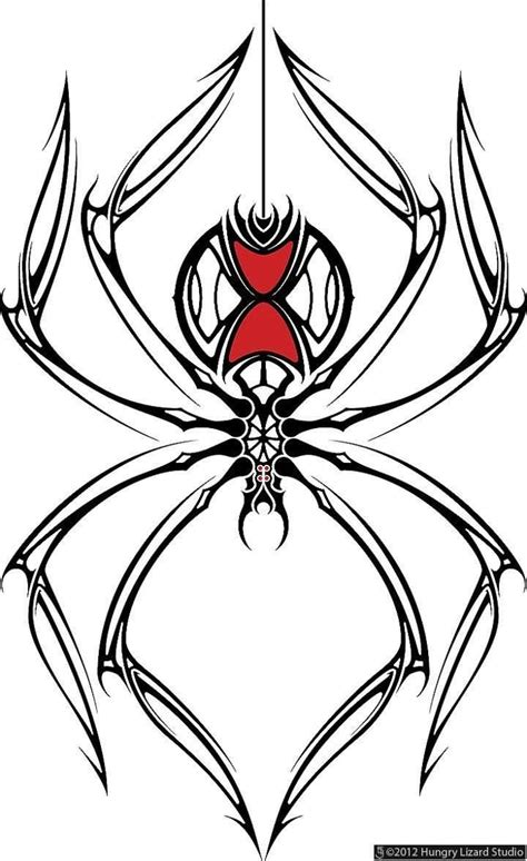 spider tattoo tribal 10 amazing black widow drawings golfian