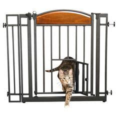 Gate With Cat Door by For Fur Babies On Pets Raised