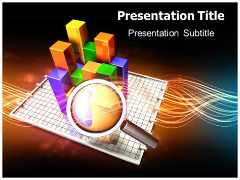 research presentation powerpoint template free market