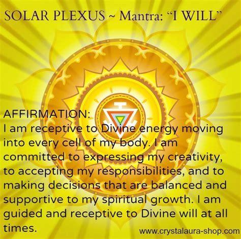 solar plexus crystals solar plexus chakra mantra i will chakra life