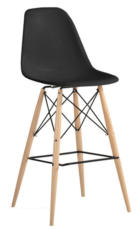 Molded Plastic Bar Stools by Eiffel Molded Plastic Counter Stool With Dowel Legs