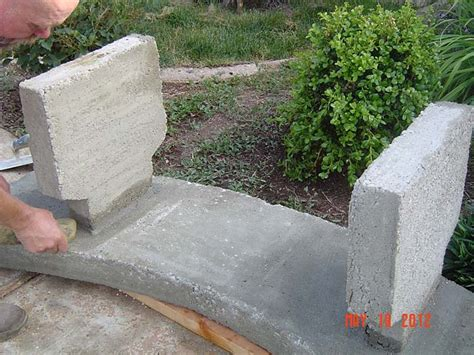 diy concrete bench concrete garden bench how to make