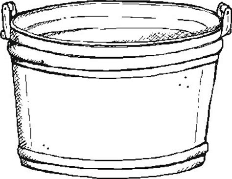 water bucket coloring page coloring pages