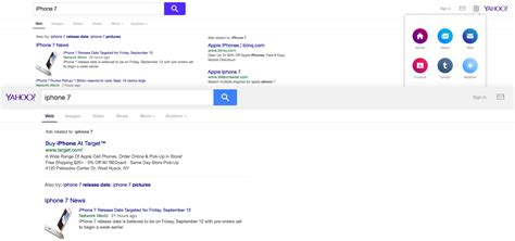 yahoo different layout yahoo search tests another user interface