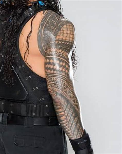 roman reigns tattoo looking design make on s