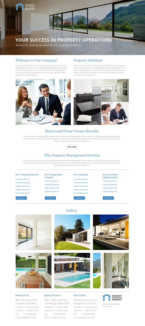 Property Management Website Templates Property Management Responsive Website Template 57932