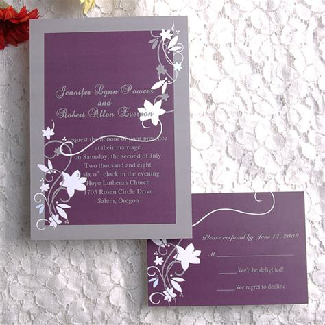 printable wedding invitation lavender cheap rustic floral plum wedding invitations ewi001 as low
