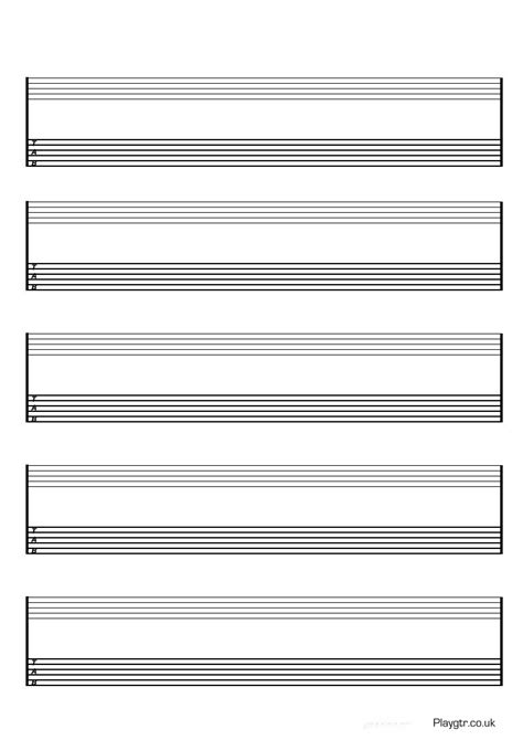 printable tabs template guitar tab template images