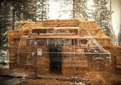 straw bale dog house transforming a van into a straw bale house critical cactus