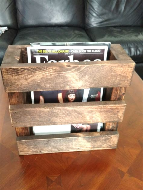Rustic Home Decor Magazines by Wood Magazine Rack Home Decor Wood Menu Holder Rustic Rack