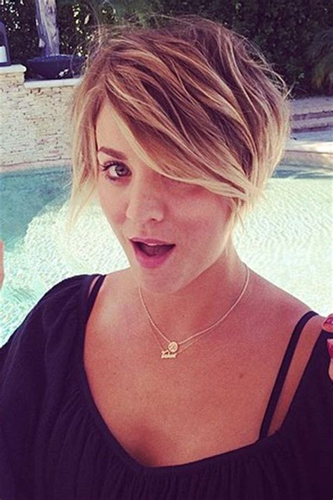 kaley cuoco new short hairdo kaley cuoco pixie cut hairstyle photos glamour com uk