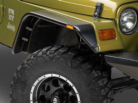 jeep wrangler tj flat fender flares barricade wrangler black flat fender flare set j102429 97